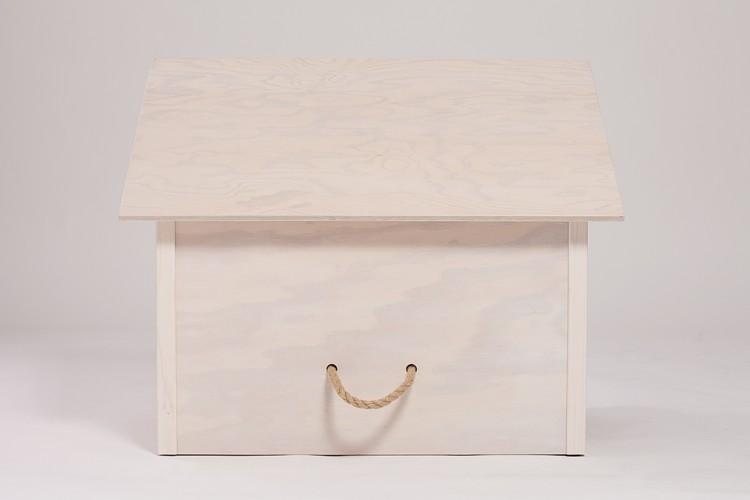 indoor hundeh tte modell 1 dach sockel kalk wei. Black Bedroom Furniture Sets. Home Design Ideas