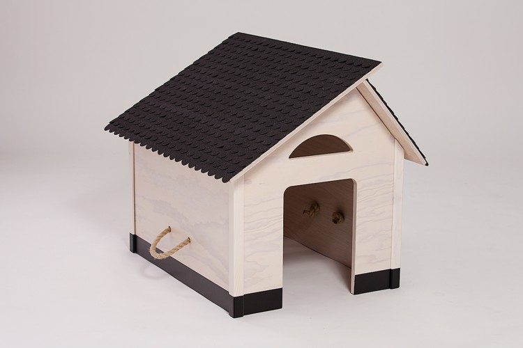 indoor hundeh tte schindeldach schwarzer sockel. Black Bedroom Furniture Sets. Home Design Ideas