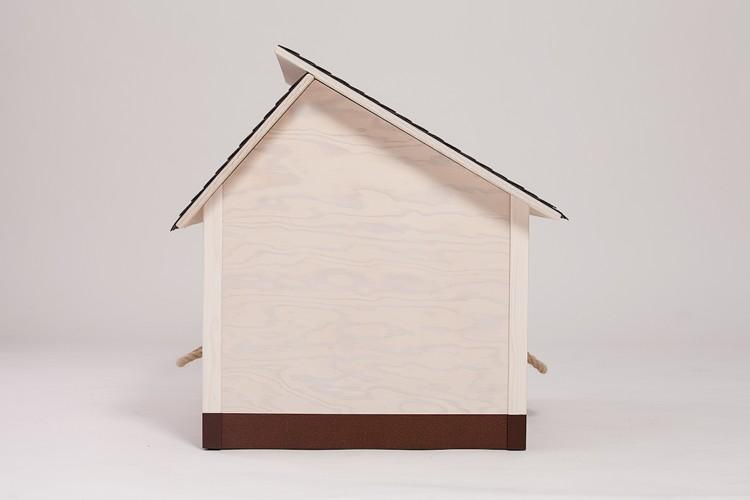 hundehaus f r innen braunes dach mit braunem sockel. Black Bedroom Furniture Sets. Home Design Ideas